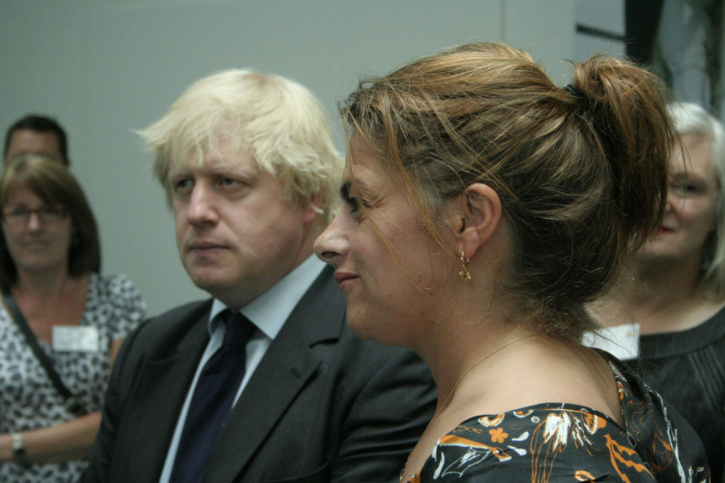 Boris Johnson and Tracey Emin together at a launch party. © Issy Eyre, Source: Wikimedia Commons