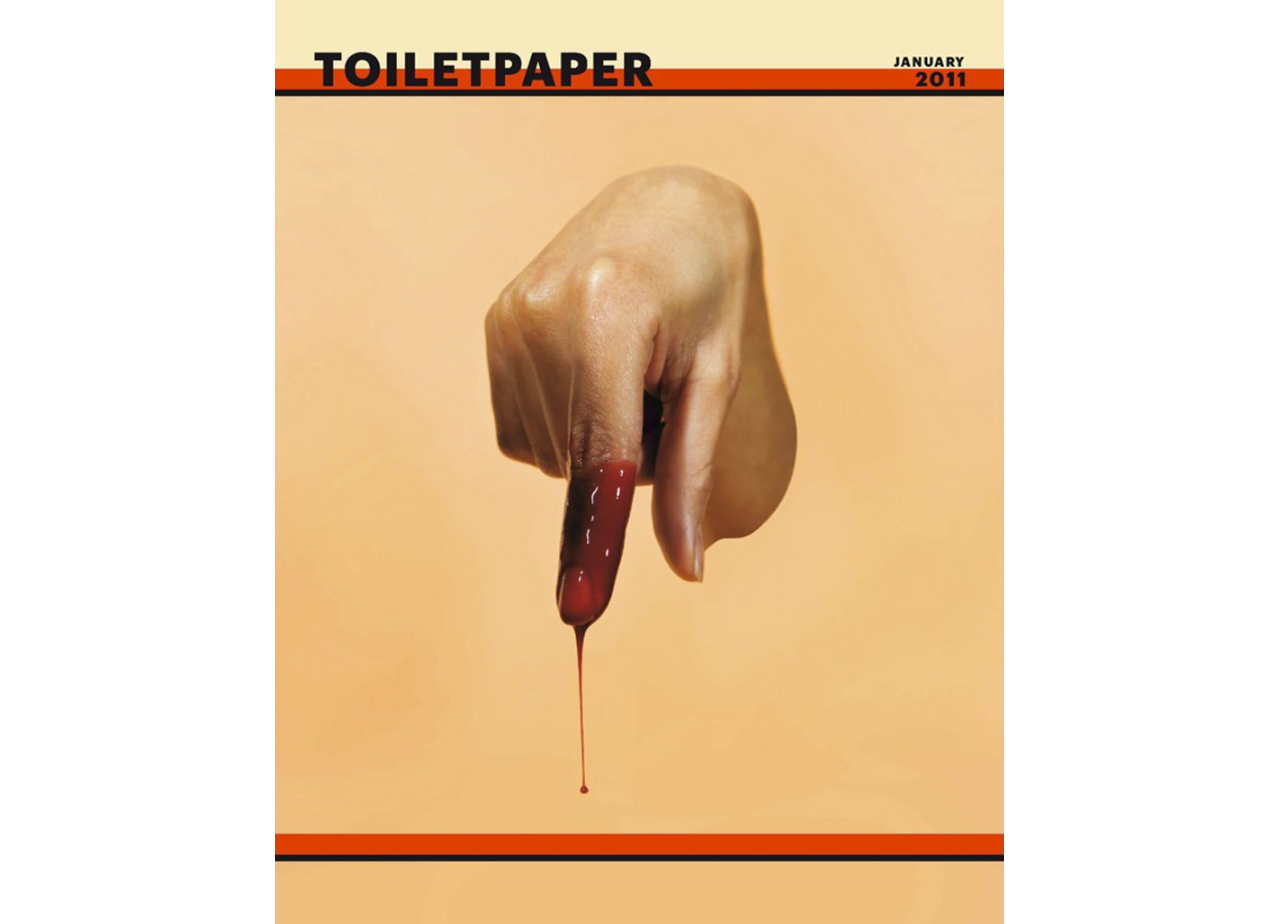 Maurizio Cattelan and Pierpaolo Ferrari, TOILETPAPER, Second Issue, 2011. © TOILETPAPER