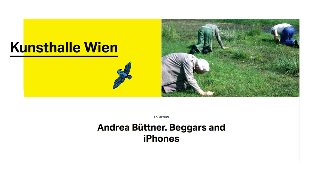 Andrea Büttner, Beggars and iPhones, 2016. Courtesy: Kunsthalle Wien