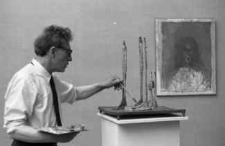 Alberto Giacometti, Venice Biennale, 1962. Courtesy: Fondo Paolo Monti, Source: Wikimedia Commons