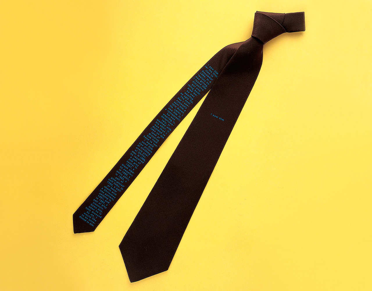 Sophie Calle, The Tie, 1993, Pure Silk, Edition of 150, 79.7 x 21.2 cm, Signed and numbered. Courtesy: Parkett, Zurich