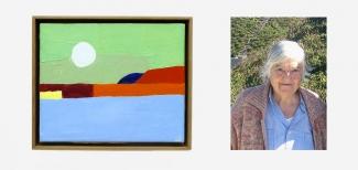 Left: Etel Adnan, 2012. Source: Wikimedia Commons. Right: Etel Adnan, 2008. Source: Wikimedia Commons