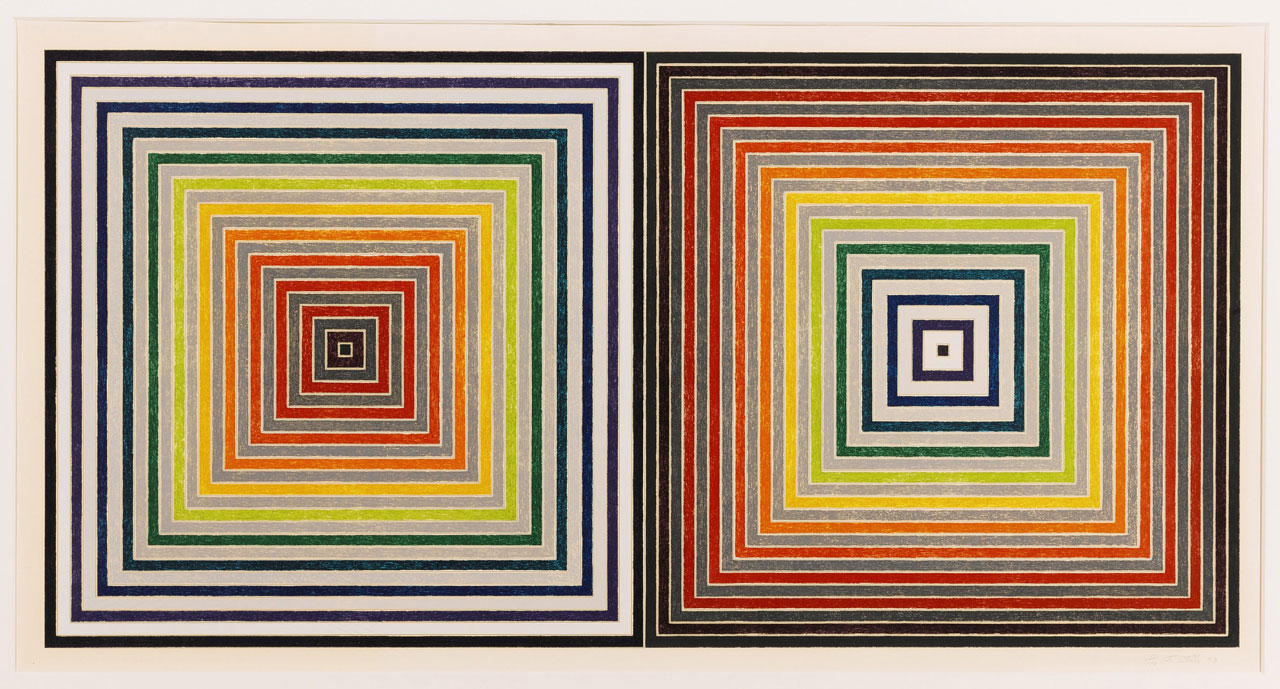 Frank Stella, Double Gray Scramble, 1973, Screenprint, Edition of 100 + 25 artist's proofs, 73 cm x 128 cm, Published by Gemini G.E.L.. Courtesy: Sotheby's