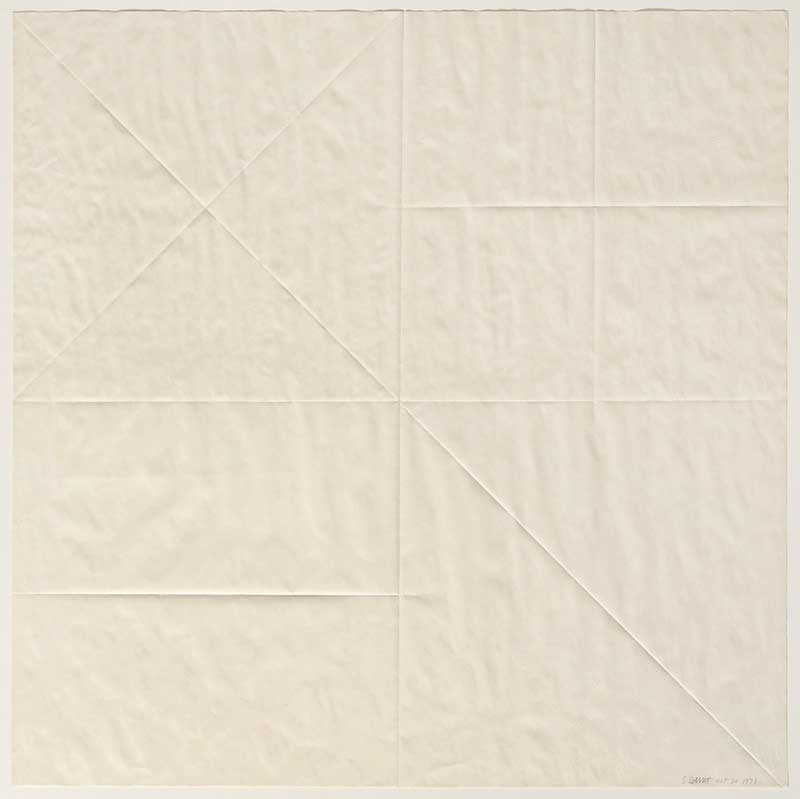 Sol LeWitt, Untitled (Paper Fold), 1973, Paper. Courtesy: Campagne Première, Berlin