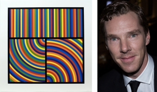 Sol LeWitt, Bands of Equal Width in Colour 3, 2000, Linocut. Courtesy: Bernard Jacobson Gallery, London. Benedict Cumberbatch, 2014. Source: Wikimedia Commons
