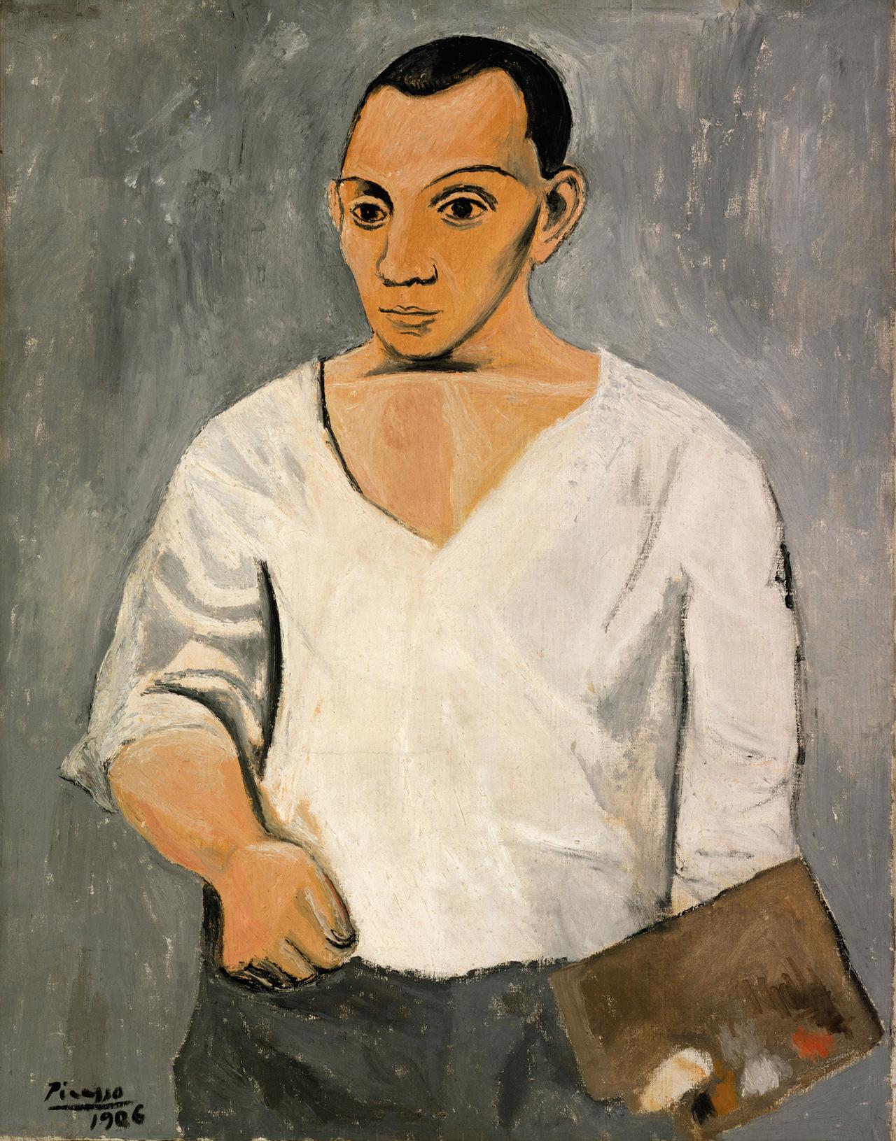 Pablo Picasso, Self-Portrait with Palette, 1906. © Succession Picasso/DACS, London