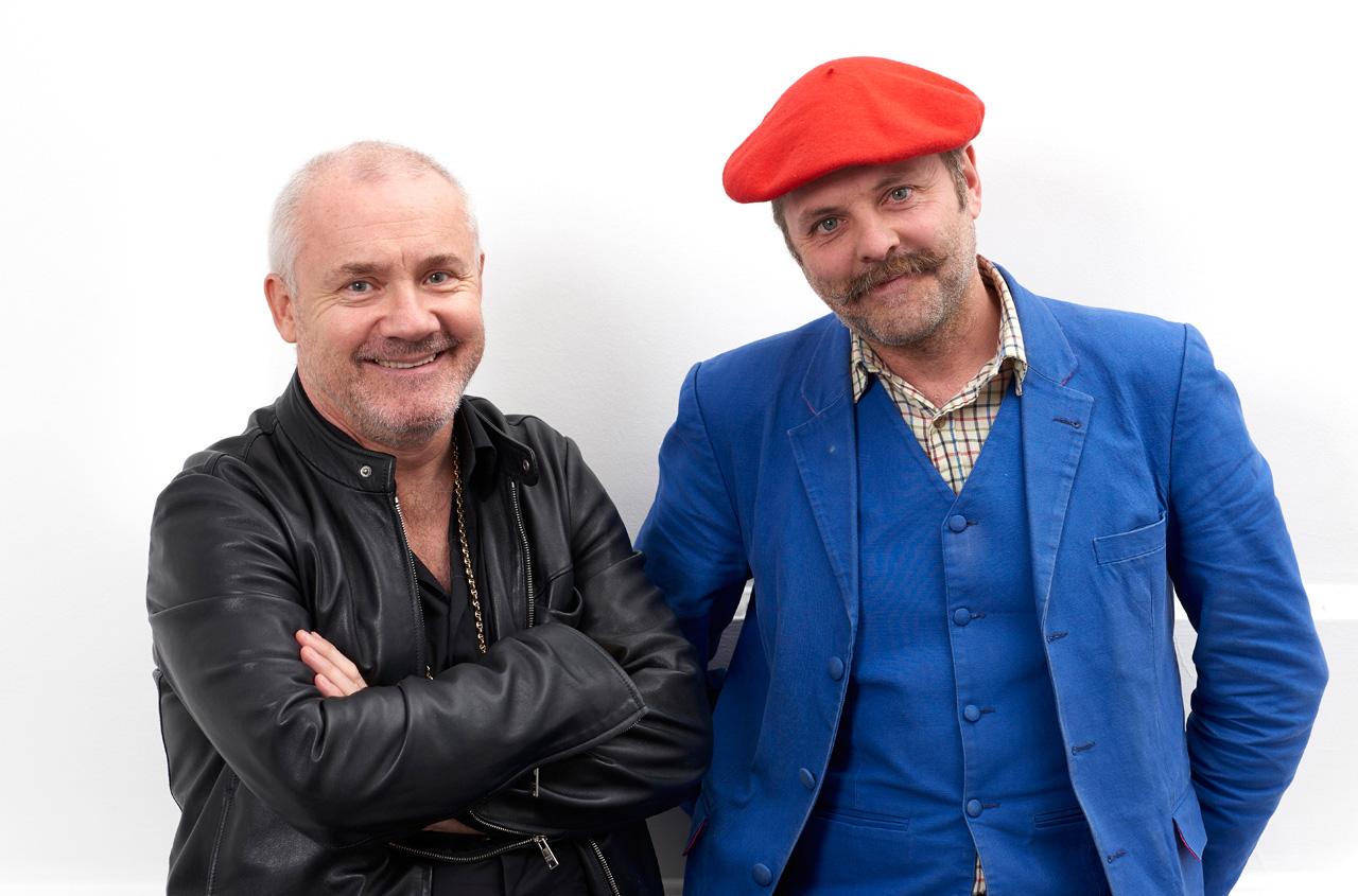 Damien Hirst and Gavin Turk, 2016. Image: Prudence Cuming Associates