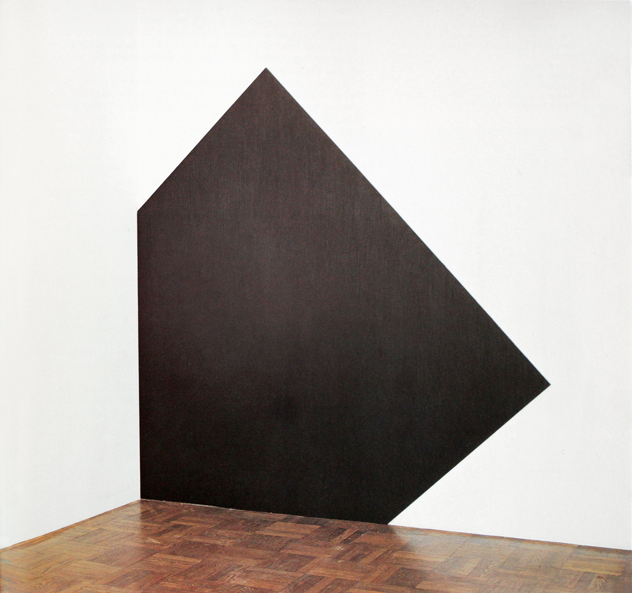 Richard Serra, Left Square into Left Corner, 1981, Paintstik on aluminum, 271cm x 264 cm, Edition of 6. Courtesy: Gemini G.E.L., Los Angeles