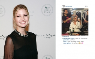 Left: Ivanka Trump at Seeds of Peace 2009. Source: Wikimedia Commons. Right: Ivanka Trump's Instagram Feed with comment by Richard Prince