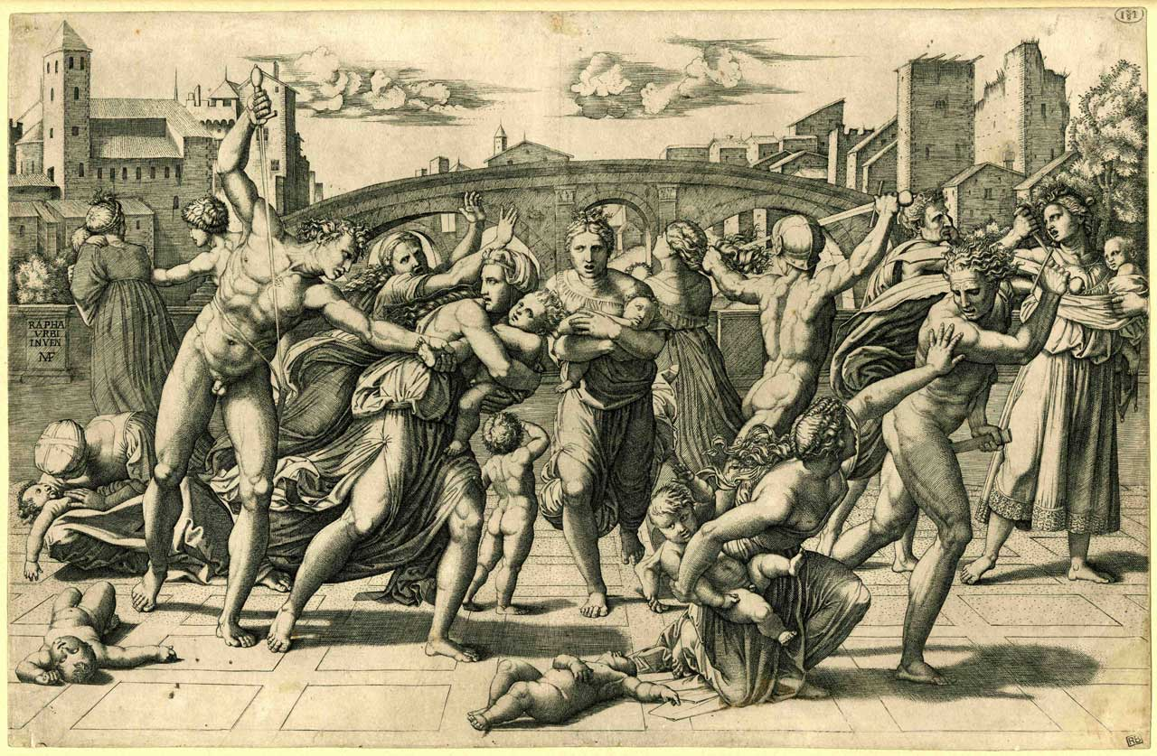 Marcantonio Raimondi after Raphael, The Massacre of the Innocents. Courtesy: The Whitworth, Manchester