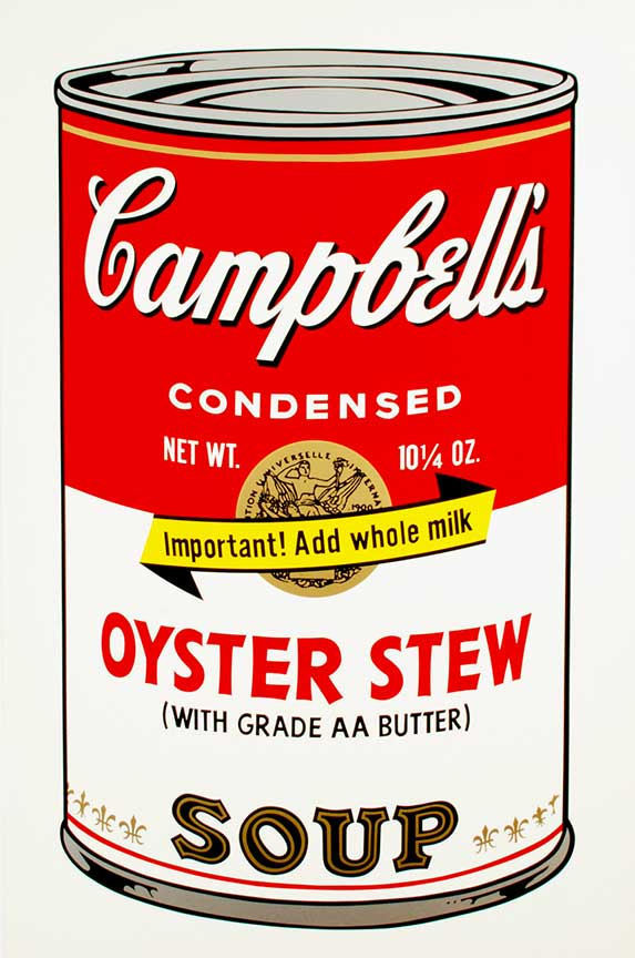 Andy Warhol, Oyster Stew, 1969, Color screen print, 88.9 x 58.4 cm, Edition of 250. Courtesy: Brooke Alexander, New York