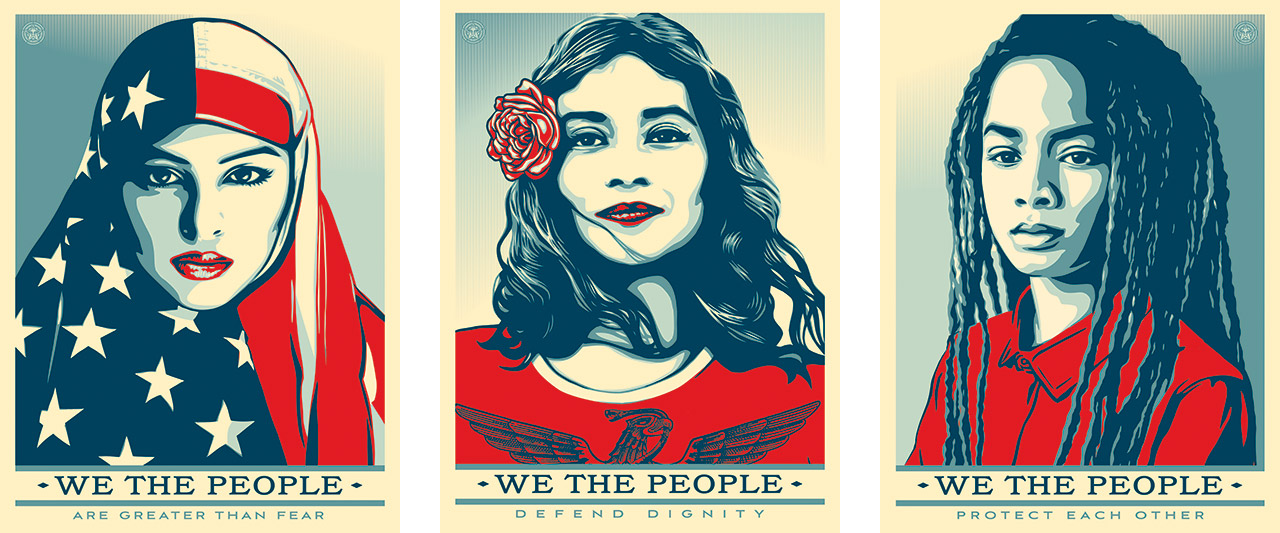 Shepard Fairey, We the People, 2017. Courtesy: Obey Giant