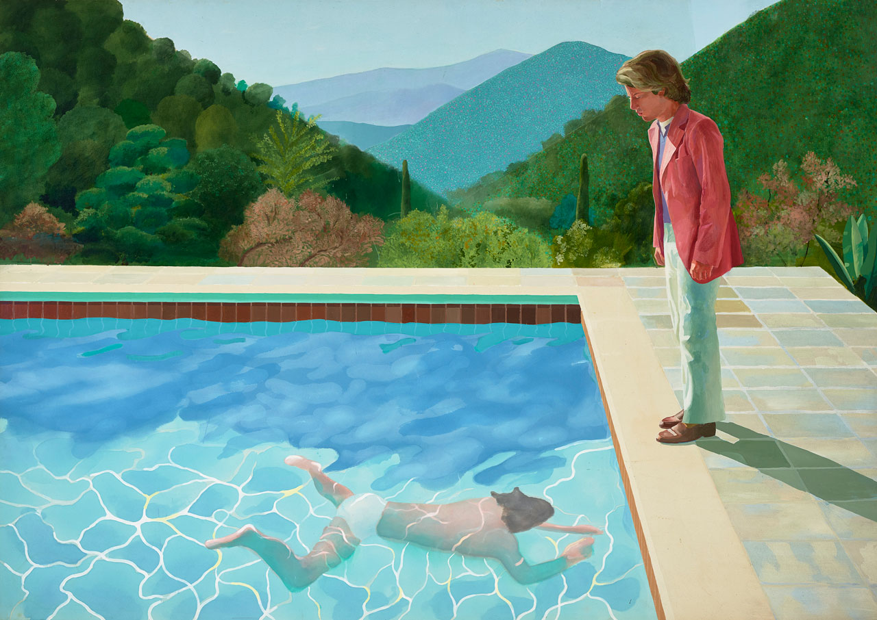 David Hockney, Portrait of an Artist (Pool with Two Figures), 1972. © David Hockney. Photo: Jenni Carter