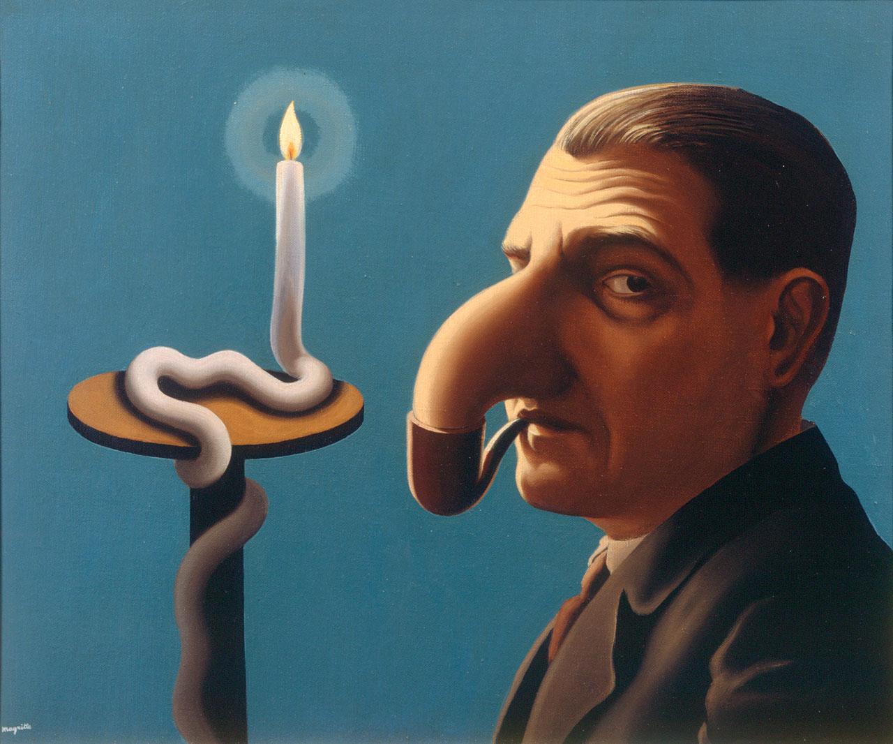 René Magritte, La lampe philosophique, 1936, oil on canvas. © VG Bild-Kunst, Bonn 2017