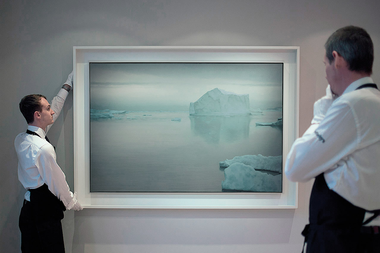 Gerhard Richter, Eisberg, 1965. Courtesy: Sotheby's Auction House, London