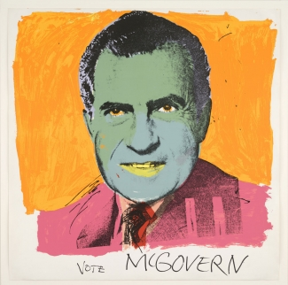 Andy Warhol, Vote McGovern, 1972, screenprint. © 2016 The Andy Warhol Foundation for the Visual Arts, Inc./Artists Rights Society (ARS), New York and DACS, London