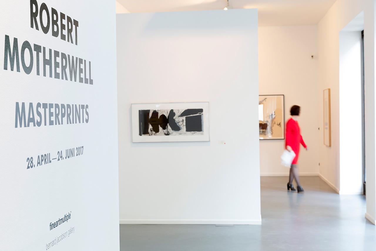 "The exhibition ""Robert Motherwell Masterprints"" at the Kunsthalle Koidl.  Installation Shot. Image: © Petrov Ahner"