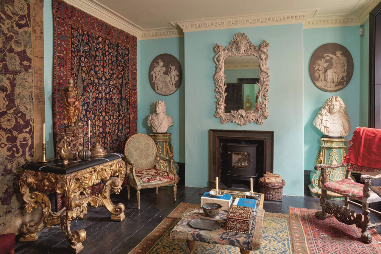 Interior of Howard Hodgkin's house, to be sold at Sotheby's. Photo: Sotheby's London