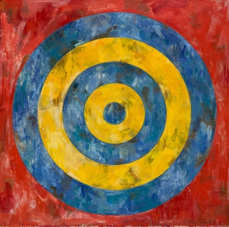 Jasper Johns, Target, 1961, Encaustic and collage on canvas, The Art Institute of Chicago. © Jasper Johns/VAGA, New York/DACS, London 2017