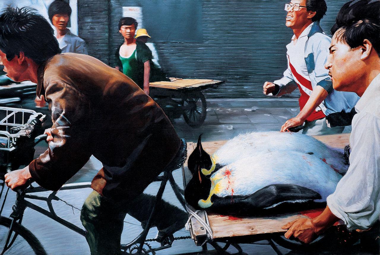 Wang Xingwei, New Beijing, 2001. Image: Courtesy M+, Hong Kong