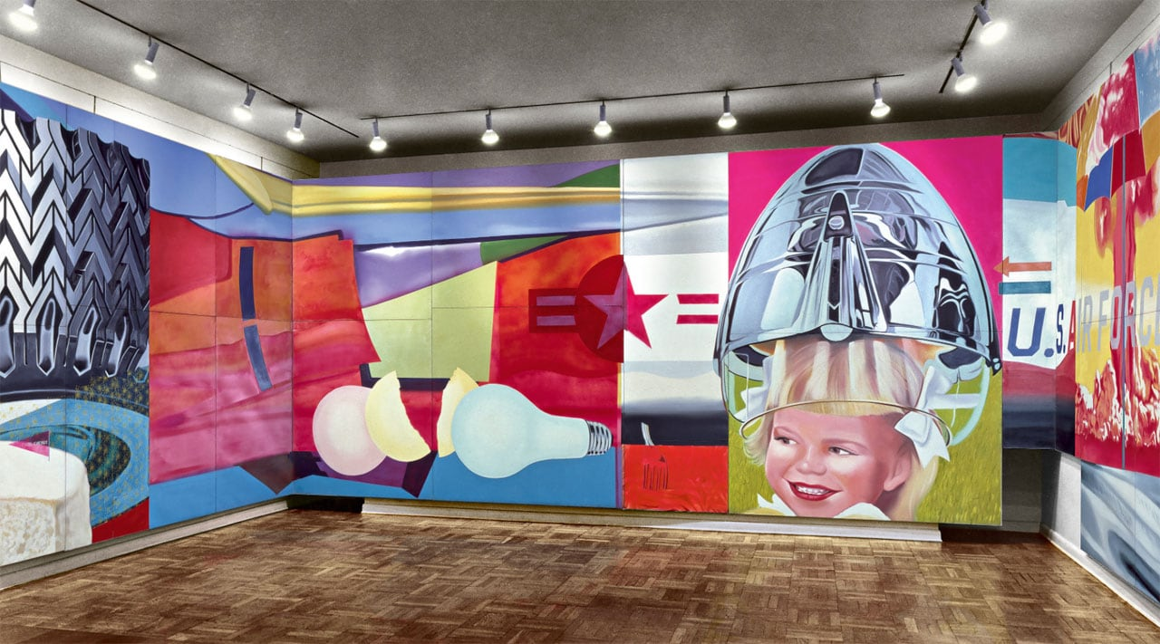 James Rosenquist, Installation view of F-111 in the Leo Castelli Gallery, 1965. © Estate of James Rosenquist/VG Bild-Kunst, Bonn 2017. Image: Courtesy of the Estate of James Rosenquist