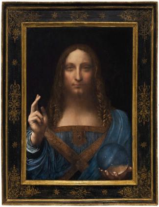 Leonardo da Vinci, Salvator Mundi, circa 1500. Via: Wikimedia Commons