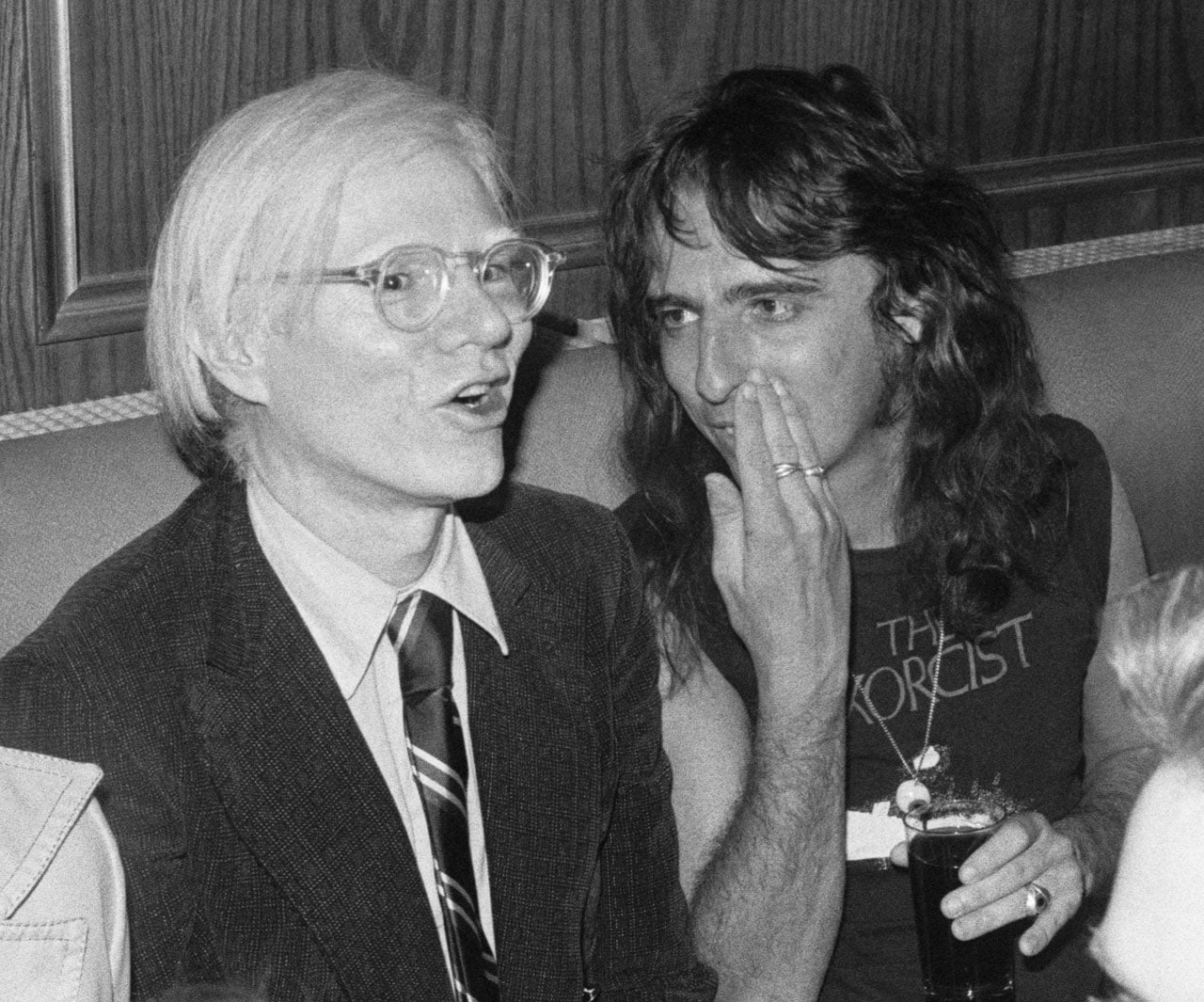Andy Warhol and Alice Cooper. Image: Bob Gruen / INTERTOPICS