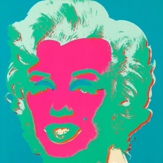 Andy Warhol, Marilyn, (FS II.30). Screenprint on paper, 91.4 x 91.4 cm (36 x 36 in), Edition 63 from 250. Image: Courtesy Revolver Gallery, Los Angeles