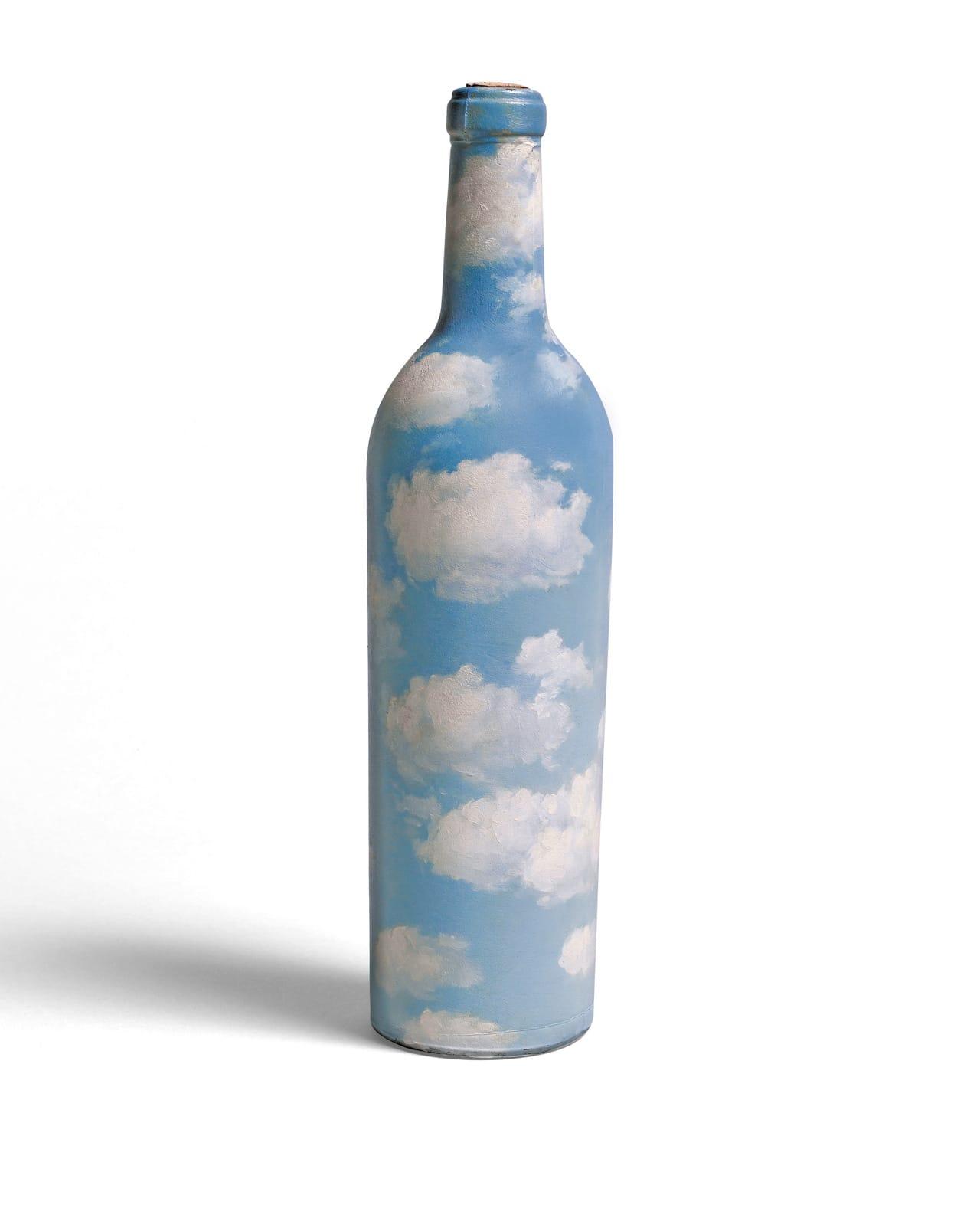 René Magritte, Ciel-bouteille, 1940, oil on glass bottle. Estimate £600,000-800,000. Image: © Sotheby's, London