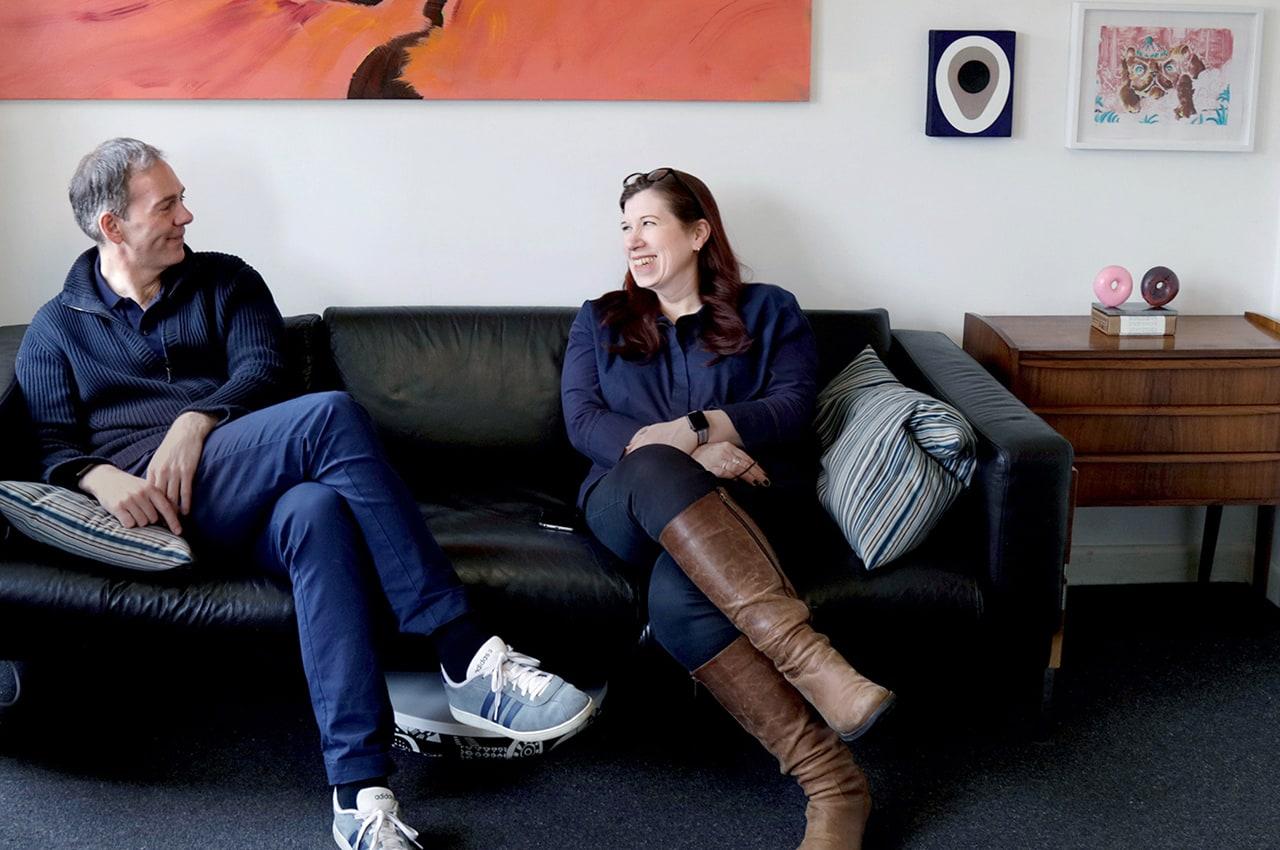 Collectors Victoria Thomas and Darryl de Prez. Image: © Käthe Kroma