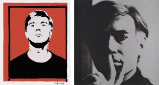 Left: Andy Warhol's 1964 self-portrait owned by Joe Simon-Whelan. Source: myandywarhol.eu. Courtesy of Joe Simon-Whelan. Right: Andy Warhol, Self-Portrait (FS II.16), 1966, Edition of 300. Courtesy of Revolver Gallery and fineartmultiple
