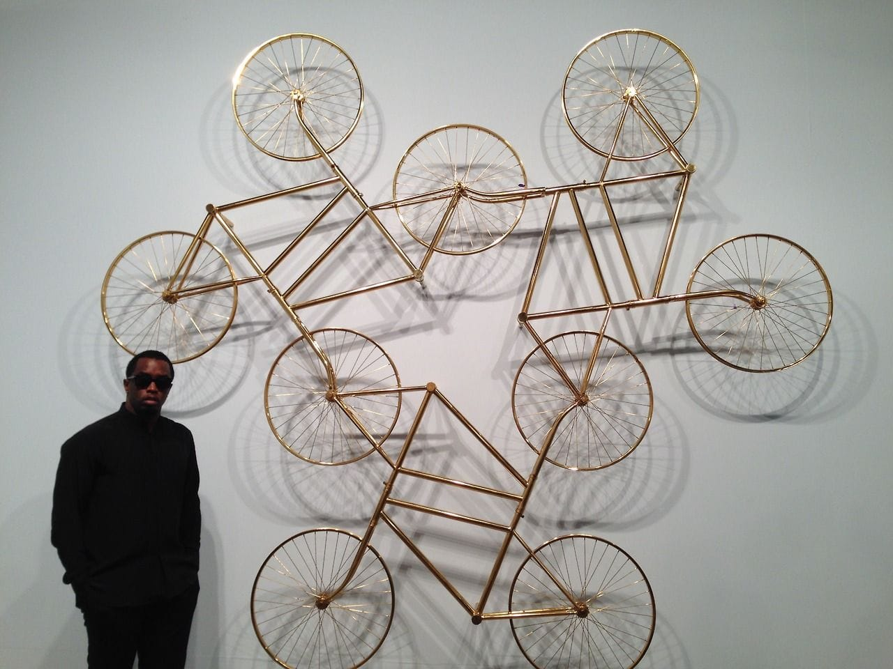 P. Diddy with Ai Weiwei's Forever at Art Basel Miami Beach, 2013. Image: via Pinterest