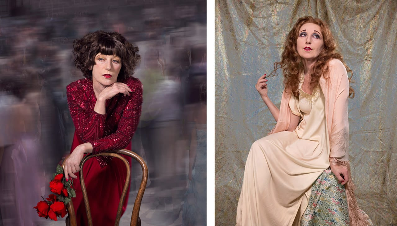 Left: Cindy Sherman, Untitled #567, 2016. © Cindy Sherman. Courtesy of the artist, Metro Pictures and Sprüth Magers. Right: Cindy Sherman, Untitled #579, 2016. © Cindy Sherman. Courtesy of the artist, Metro Pictures, Sprüth Magers