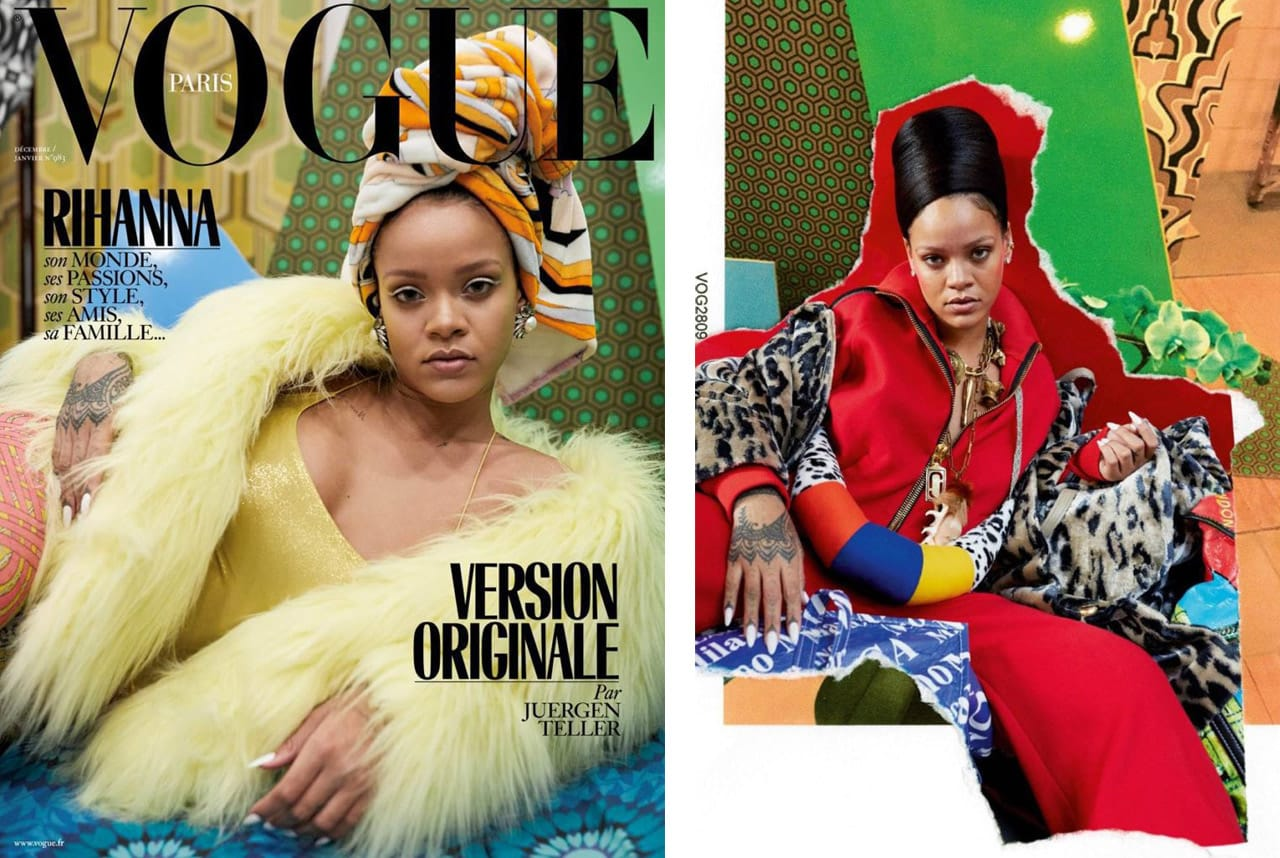 Juergen Teller's photographs of Rihanna for Vogue Paris. Photo courtesy of Vogue Paris. Images: via artnet