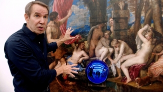 Jeff Koons in his studio in The Price of Everything. Courtesy of HBO