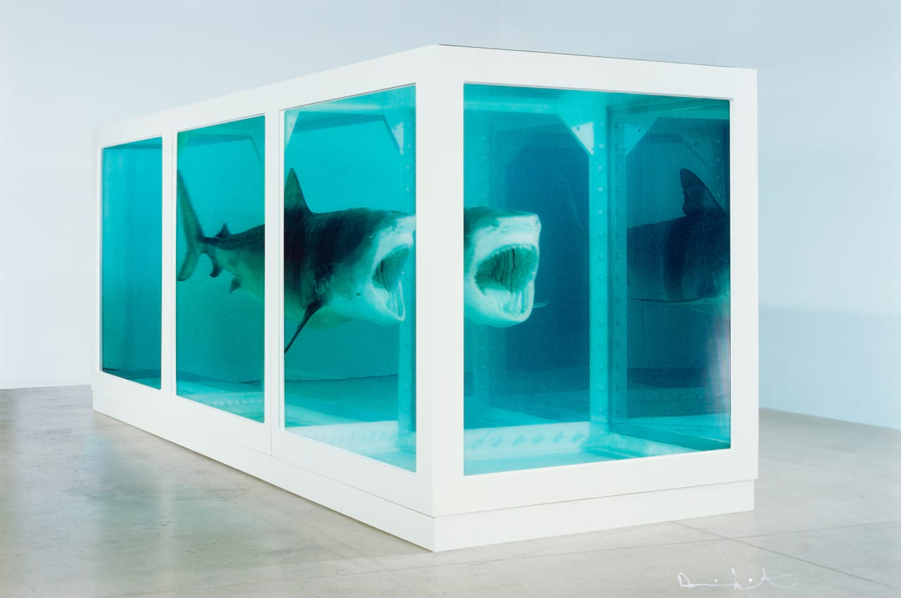Damien Hirst, The Physical Impossibility of Death in the Mind of Someone Living, 2013. Courtesy of Paul Stolper, London