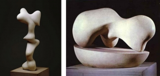 Left: Hans Arp, Human Concretion, 1933. Right: Hans Arp, Growth, 1938. Images: via wikiart.org