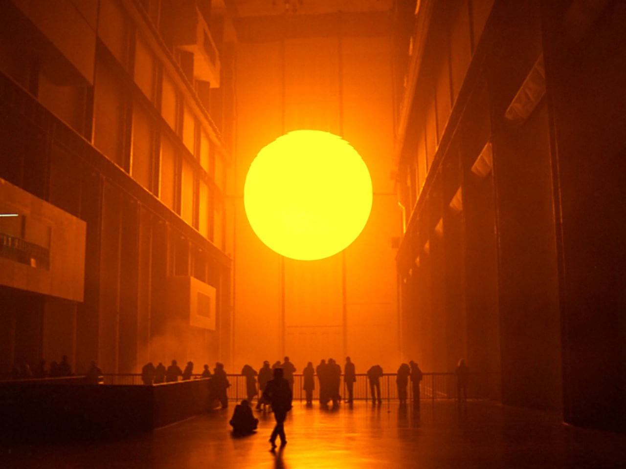 The Unilever Series: Olafur Eliasson, The Weather Project, 2003. Photo: Marcus Leith and Andrew Dunkley, Tate Photography © TATE, 2004