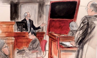 Domenico de Sole giving evidence at the Knoedler & Co. trial. Image: Courtesy of www.elizabethwilliamstudio.com
