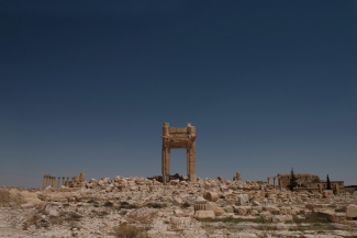 Ruins of the Temple of Bel in Palmyra, Syria, following destruction by ISIS in August 2015
