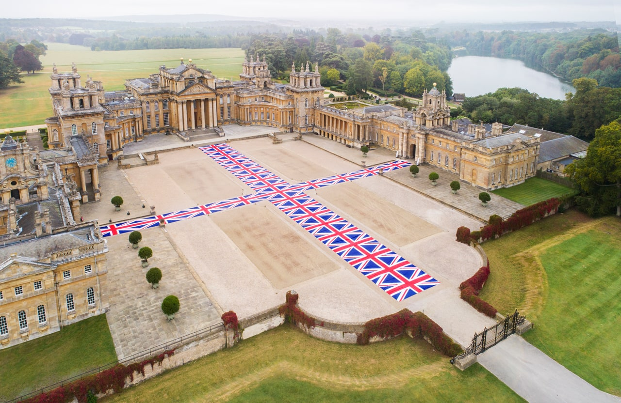 Installation view, Victory is Not an Option, 2019, Maurizio Cattelan at Blenheim Palace, 2019. Image: © Tom Lindboe. Courtesy of Blenheim Art Foundation