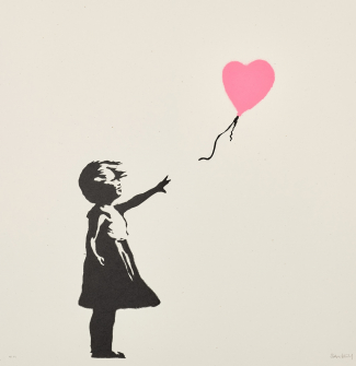 Banksy, Girl With Balloon. Image: Courtesy Sotheby's