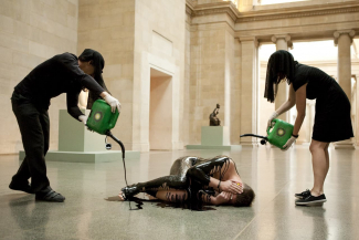 Liberate Tate, protest at Tate Britain. Image: © Amy Scaife