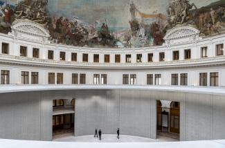 Interior view of the Bourse de Commerce. Image: © Tadao Ando Architect & Associates, Niney et Marca Architectes, Agence Pierre-Antoine Gatier