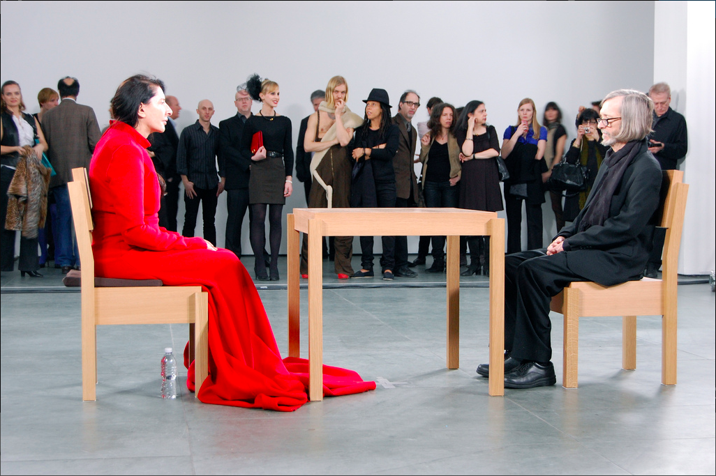 Marina Abramovic, The Artist is Present, 2010, Performance at the Museum of Modern Art, New York. © Andrew Russeth
