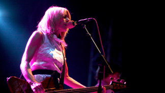 Kim Gordon (Sonic Youth) at Route du Rock, Saint-Malo, August 2007. © Bertrand Delgoff