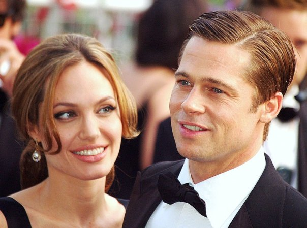 Angelina Jolie and Brad Pitt at the Cannes Film Festival, 2007. © Georges Biard