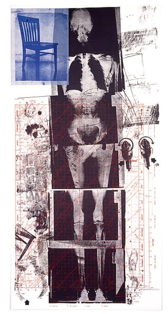 Robert Rauschenberg, Booster, 1967, Color lithograph and screen print, 183 x 89 cm, Edition of 38. Courtesy: Gemini G.E.L., Los Angeles