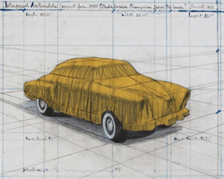 Christo Wrapped Automobile (Project for 1950 Studebaker Champion, Series 9 G Coupe), 2015