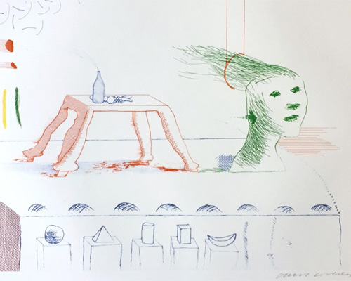 David Hockney A Moving Still-life